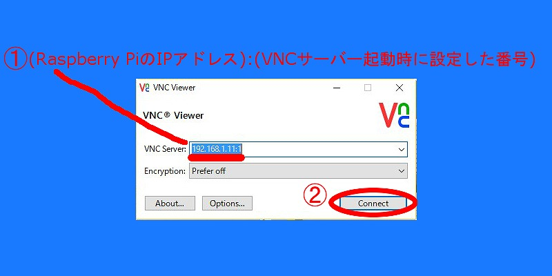 s-02 Real VNC Viewer起動