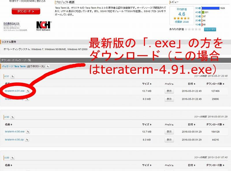s-02 TeraTermダウンロード